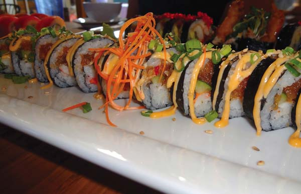 Select specialty sushi rolls cost $5 at happy hour from 4 to 6 p.m. Monday through Thursday. Wharf Cinema Center photo