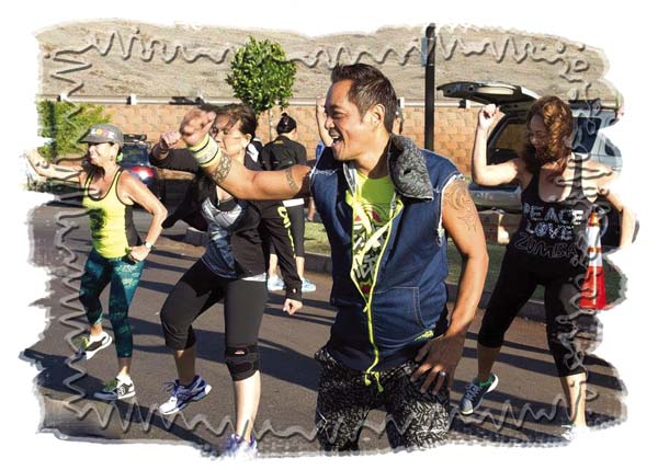 Not only is Zumba Fitness a lot of fun, it's also a metabolism booster. Keoni Manuel says a one-hour class can burn up to 900 calories. DONNA HO photo
