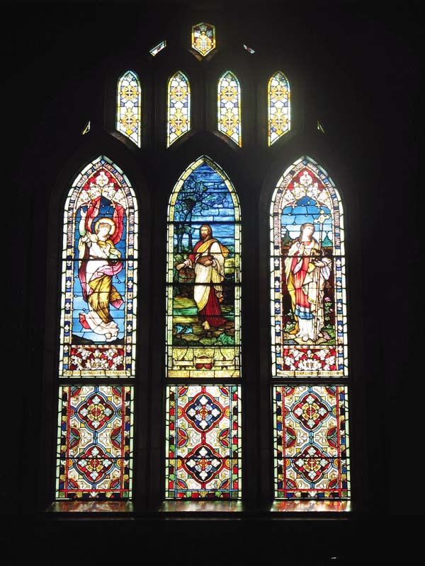 Makawao Union Church's stained glass windows are one of the highlights of guided tours of the nearly 100-year-old building on Saturday.