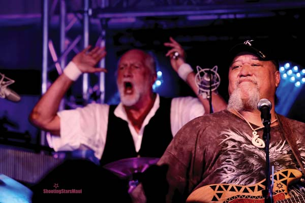 Mick Fleetwood and Willie K will perform at the Uncle Willie K BBQ Bluesfest on Saturday; photo by Shooting Stars Maui.