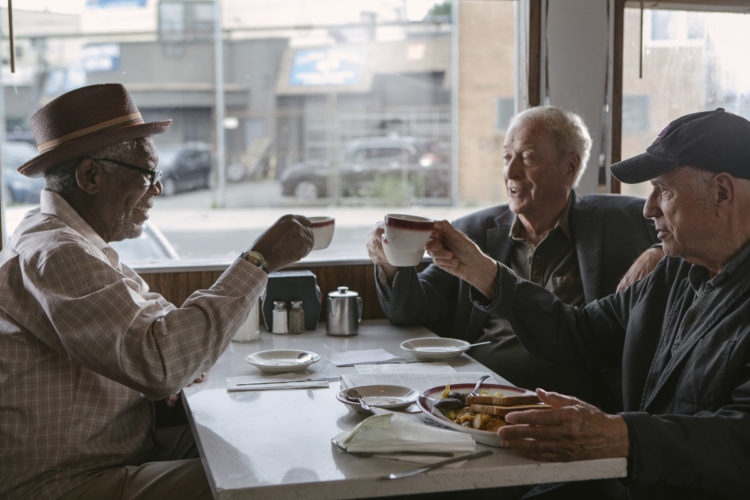 """Morgan Freeman, Michael Caine and Alan Arkin star in """"Going in Style"""" • Warner Bros. Pictures photo via AP"""