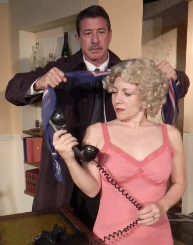 "Jim Oxborrow and Marsi Smith appear in ProArts Inc.'s production of ""Dial M for Murder."" Performances are at 7:30 p.m. Thursdays through Saturdays and 3 p.m. Sundays beginning Friday through April 30 (no performance on Sunday) at ProArts Playhouse in Kihei. Tickets are $26 and available by phone at 463-6550 or online at proartsmaui.com. * Richard Vetterli photo"