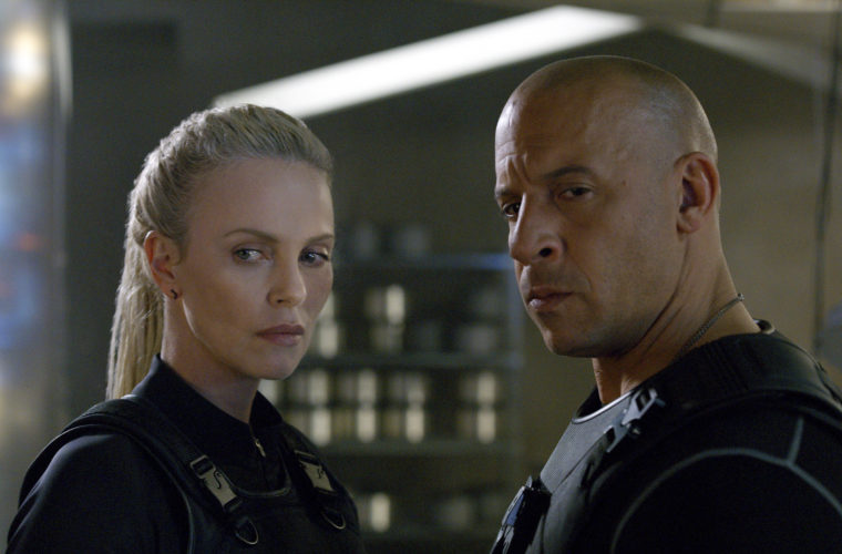 "Charlize Theron and Vin Diesel star in ""The Fate of the Furious"" * Universal Pictures photo via AP"