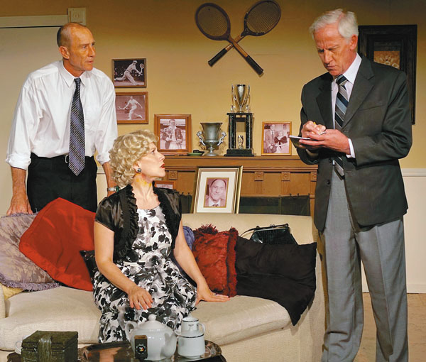 "ProArts Inc.'s ""Dial M for Murder"" with William Makozak (from left), Marsi Smith and Dale Button. Dick Vetterli photo"