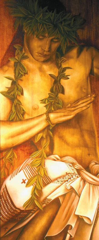 """Hawaiiana"" by  The Twins; Bill Wyland Gallery photo"