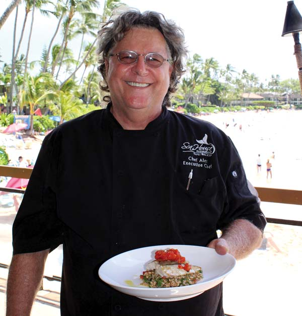 Executive Chef Alex Stanislaw served fresh onaga that was running on a recent visit. CARLA TRACY photo