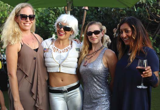 "Choice Health Bar in Lahaina won ""Best Healthy Fare"" on Sunday at the 'Aipono Restaurant Awards. The owner is Emily Kunz (from left) with Astro Girl Amy Erickson, Kellie O'Rourke and May Lee. A satellite kiosk will be opening in Kaanapali. CARLA TRACY photo"