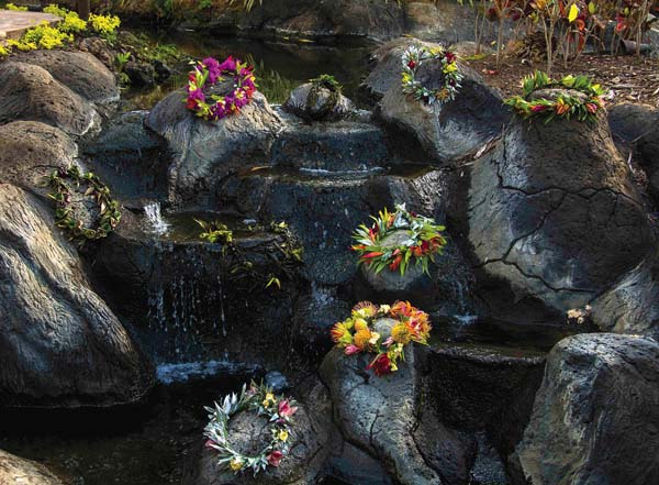 Haku lei are displayed at the resort. Westin Maui Resort & Spa photo
