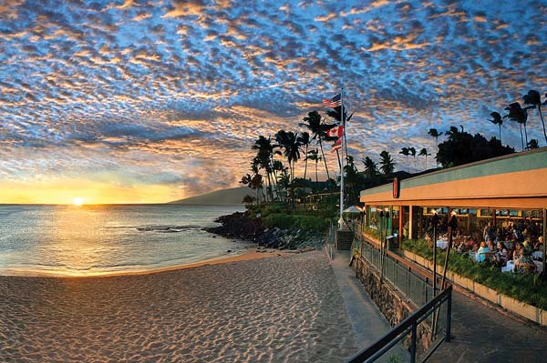 Sunsets are as good as it gets on Maui; photo courtesy Sea House