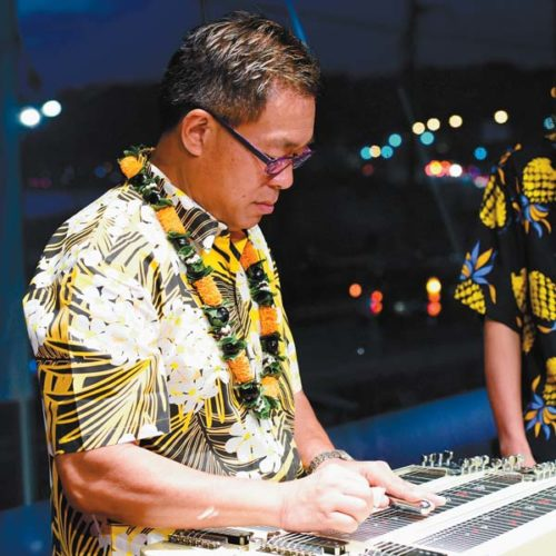 Steel guitar virtuoso Alan Akaka at the Maui Hawaiian Steel Guitar Festival • Sunday; photo courtesy the artist.