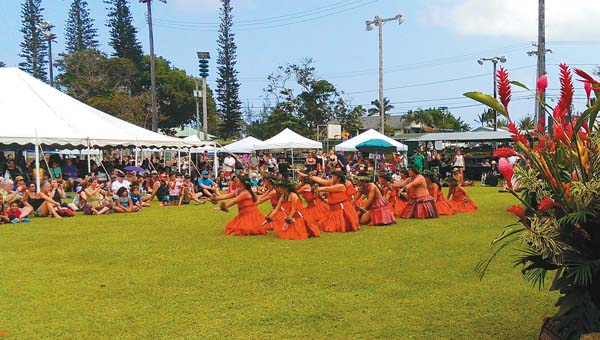 Halau Nakaulakuhikuhi will perform at the East Maui Taro Festival on Saturday; photo courtesy Judy Kinser.