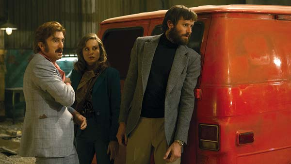 "Sharlto Copley, Brie Larson and Armie Hammer star in ""Free Fire"". A24 photo via AP"