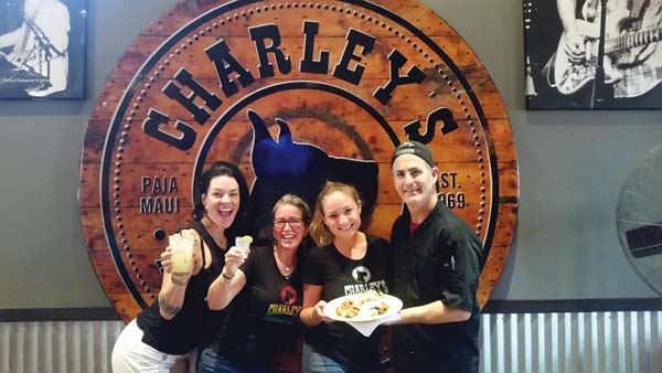 Charley's Restaurant & Saloon's Lindsey Stout, General Manager Renae Robertson, Juliet Clark and Raymond Waggoner get ready for Cinco de Mayo. The Maui News / CARLA TRACY photo