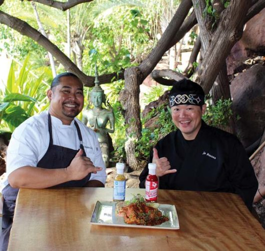 Japengo's Maui Tastemakers Series chefs Gevin Utrillo and Jin Hosono • Fridays in May; photo by Carla Tracy.