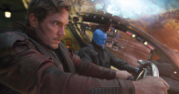 "Chris Pratt (left) and Michael Rooker star in ""Guardians of the Galaxy Vol. 2"". Marvel Studios photo via AP"