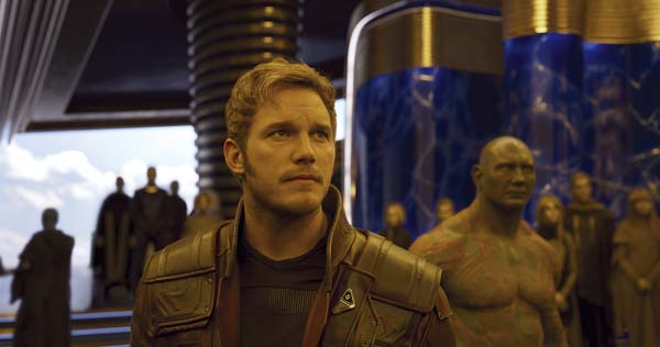 "Chris Pratt and Dave Bautista star in ""Guardians of the Galaxy Vol. 2"". Disney-Marvel photo via AP"