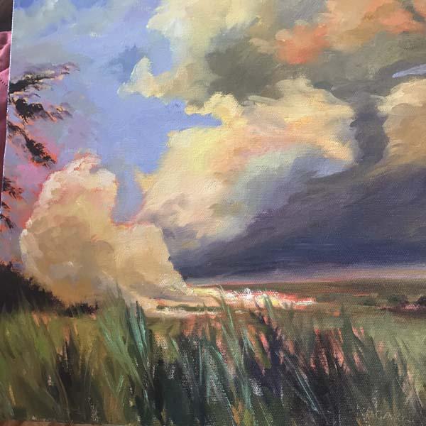 """Cane Fire"" by artist Karen Scarborough. Photo courtesy the artist"
