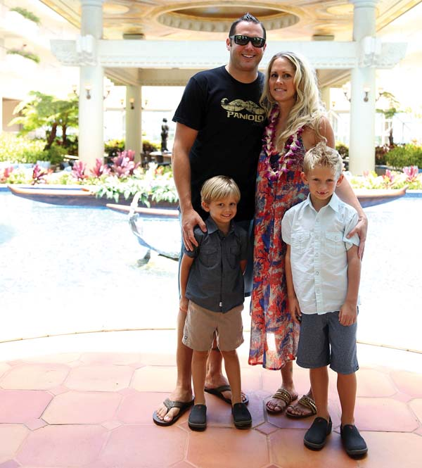 Grand Wailea Executive Chef Ryan Urig and wife Jennifer with sons Ryder, 6, and Cruise, 3. The hotel will pull out all of the stops for Mother's Day brunch. You may also treat Mom to an annual Spa Grande membership with monthly massage or facial for $115 per month. Grand Wailea photo