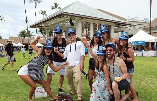Friends having fun at Maui Brewers Festival at the MACC • Saturday; Aubrey Hord photo