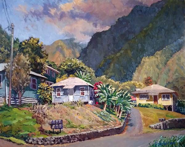 """Iao Hale"" by Carleton Kinkad. Photo courtesy Viewpoints Gallery"