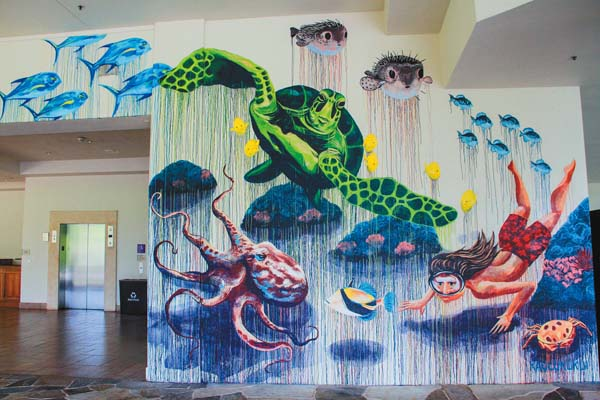 """""""Ke Ola o Pu'u Keka'a"""" is a new mural at the Sheraton Maui in Kaanapali. -- Photo courtesy Sheraton Maui"""