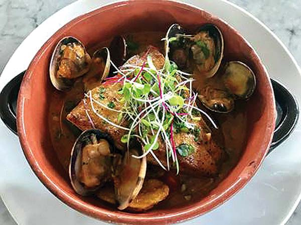 Acquapazza, a Neapolitan seafood dish by Matteo's Osteria; photo courtesy restaurant