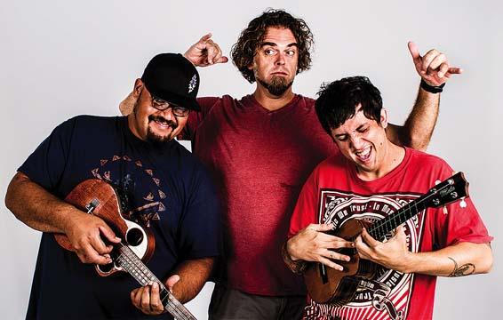 Ukulele-powered Hawaiian reggae-fusion rock band Kanekoa. Photo courtesy the artist
