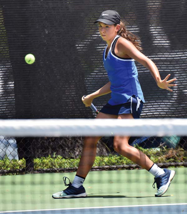 Maui High's Jessalyn Lopez won the Maui Interscholastic League singles title and reached the quarterfinal round of the state tournament. The Maui News / MATTHEW THAYER photo