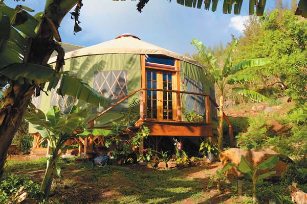 An exterior view of a yurt -- Photo courtesy Love Yurts