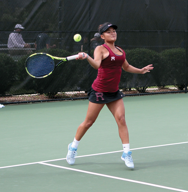 Sarah Ikioka and Redlands teammate Elizabeth Johnson reached the semifinals of the NCAA D-III tournament. John Ly photo