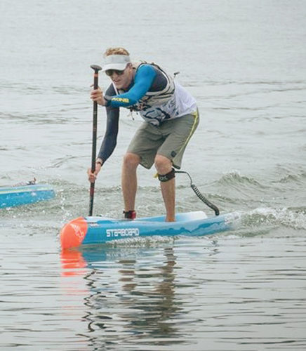 Connor Baxter competes in the Hossegor Paddle Games in France last weekend. EURO TOUR photo