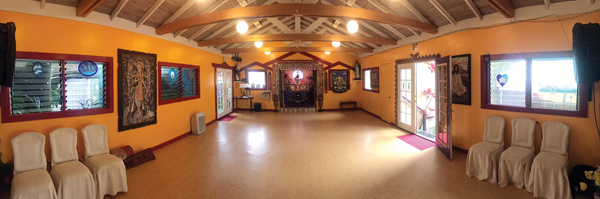 Temple of Peace in Haiku will set the stage for a visiting guru and a vegetarian meal on Saturday. Temple of Peace photo