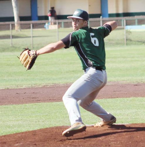 Molokai High School's Kairos Torres-Umi helped the Farmers win their fifth straight Maui Interscholastic League D-II title. RICK SCHONELY photo