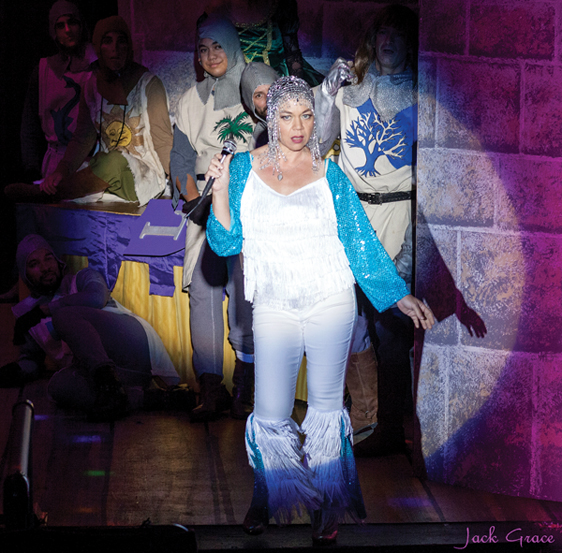 "Lina Aiko Krueger in ""Spamalot"" • Jack Grace photo"
