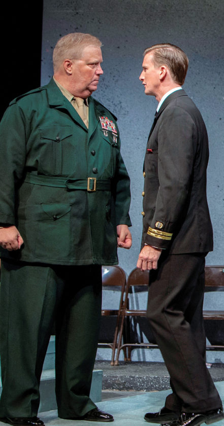 "Robert E. Wills (left) with Ricky Jones in ""A Few Good Men"" • Jack Grace photo"