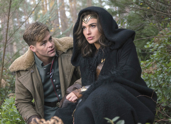 "Chris Pine (left) and Gal Gadot in ""Wonder Woman"" • Warner Bros. Pictures via AP"