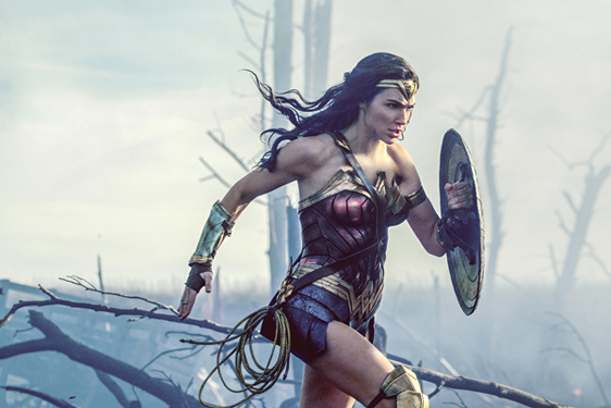 "Gal Gadot is ""Wonder Woman."" • Warner Bros. Entertainment via AP"