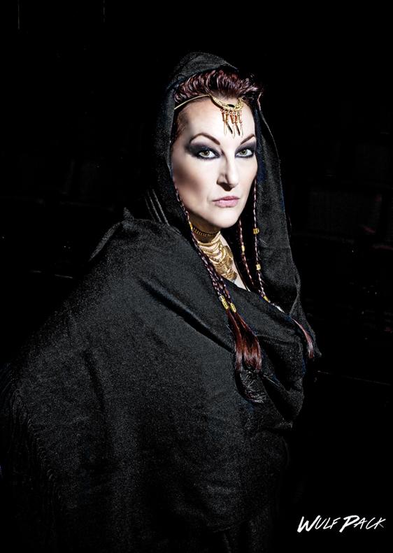 "'MEDEA"" at Seabury Hall in Makawao | Saturday through June 18 • Jennifer Rose as ""Medea""; Brett Wulfson photo."