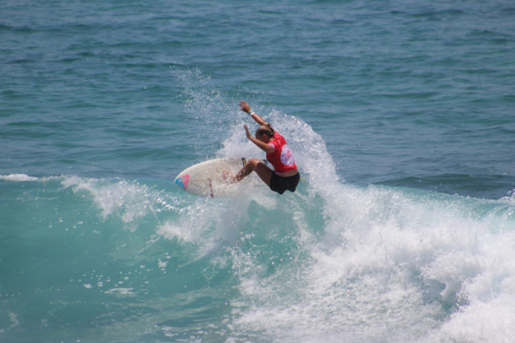 Summer Macedo of Lahaina competes in the second round of the Los Cabos Open of Surf on Tuesday in San Jose Del Cabo, Mexico. • WORLD SURF LEAGUE photo