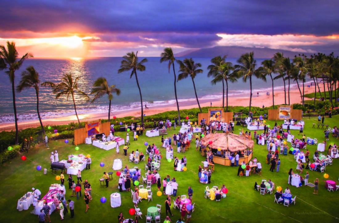 Last year, Maui Film Festival at Wailea's Taste of Summer boasted sunset views. • The Maui News / CARLA TRACY photo