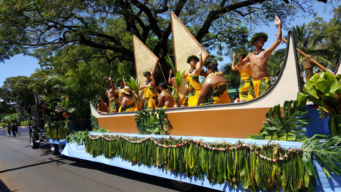 LAHAINA | SATURDAY AND SUNDAY – NA KAMEHAMEHA TWO-DAY CELEBRATION. Visit the 2017 Na Kamehameha Commemorative Pa'u Parade & Ho'olaule'a in Lahaina. Saturday hoolaulea hours are from 9 a.m. to 5 p.m. under the Banyan Tree with the Pa'u Parade starting at 9:45 a.m. on Front Street from Shaw to Kenui streets. Sunday hoolaulea hours are from 9 a.m. to 5 p.m. Enjoy music, dance, local crafts, keiki activities and more. For more details, visit Facebook.com or www.visitlahaina.com/event; photo by Red Ring Studio.