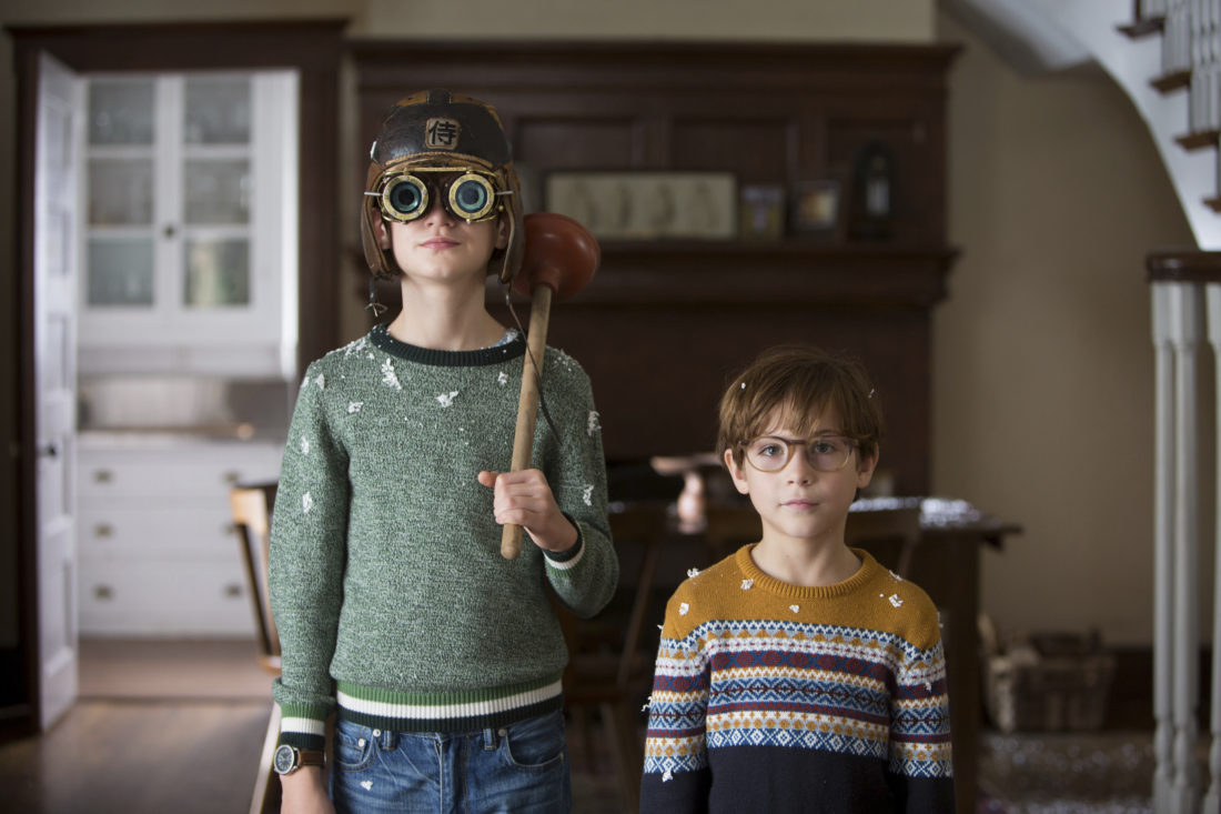 "Jaeden Lieberher and Jacob Tremblay star in ""The Book of Henry."" • Focus Features via AP"