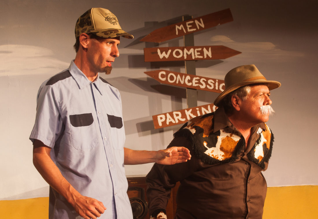 "John Williams (left) and William Hubbard in the ProArts Playhouse production of ""Red, White and Tuna."" Performances are 7:30 p.m. Thursdays through Saturdays and 3 p.m. Sundays opening Friday through July 2 (no performance this Sunday) at the ProArts Playhouse in Kihei. Tickets are $26 and available by phone at 463-6550 or online at www.proartsmaui.com. • William Hubbard photo"