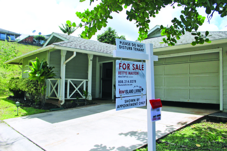 This three-bedroom single-family home at 89 Poniu Circle in Wailuku is for sale for $560,000. For the third time in the past year, the median price of a single-family home in Maui County reached the $700,000 benchmark in May, according to a Realtors Association of Maui report. • The Maui News COLLEEN UECHI photo