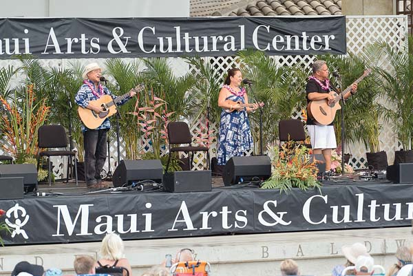 Slack Key Marty (left) and his partner, Norliko, entertain at last year's show. -- Photo courtesy of MACC