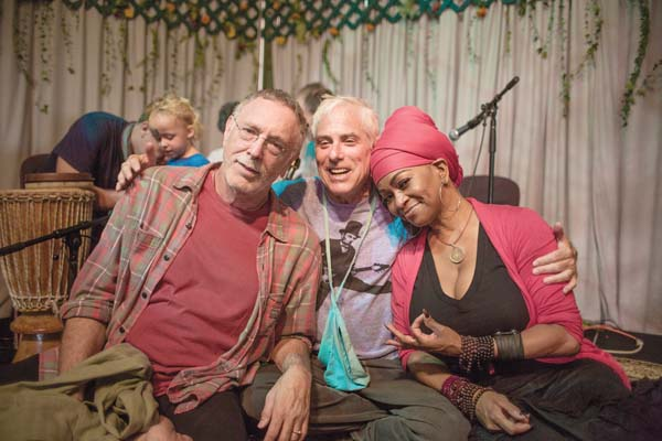 """Musicians Krishna Das, Jai Uttal and C.C. White share the healing powers of mantra in the Maui Film Festival selection """"Mantra — Sounds into Silence"""" screening at 7 p.m. Saturday at the MACC. Photo courtesy Georgia Wyss"""