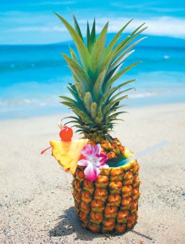 Hyatt Regency Maui Resort & Spa in Kaanapali will offer fresh pineapple drinks at its poolside 'Umalu in honor of National Pineapple Day on Tuesday. Hyatt Maui photo