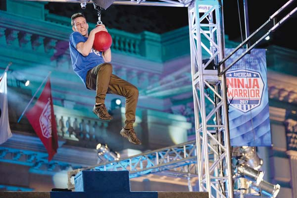 "AMERICAN NINJA WARRIOR -- ""Los Angeles Qualifier"" -- Pictured: Joey Swink -- (Photo by: Tyler Golden/NBC)"