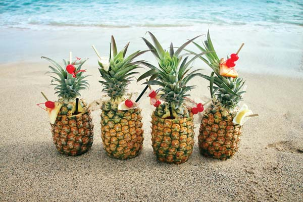 Sip a fresh pineapple cocktail at 'Umalu on Tuesday in celebration of National Pineapple Day. -- Photo courtesy Hyatt Regency Maui Resort & Spa