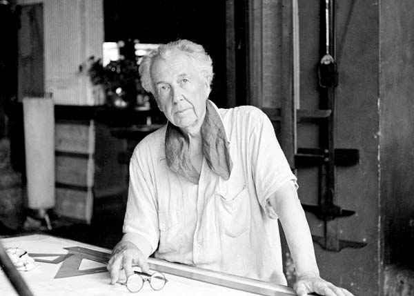 Frank Lloyd Wright in his home studio at Taliesin, in Spring Green, Wisconsin. His innovative designs continue to fascinate people. --  Photo via AP